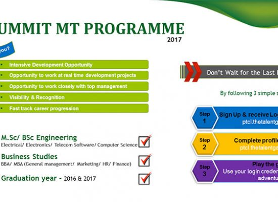 PTCL Summit Programme grooming young talent
