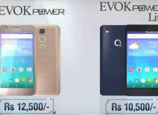 QMobile launches Evok Power & Power Lite