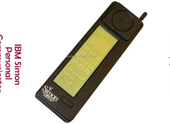 The first smartphone, IBM Simon