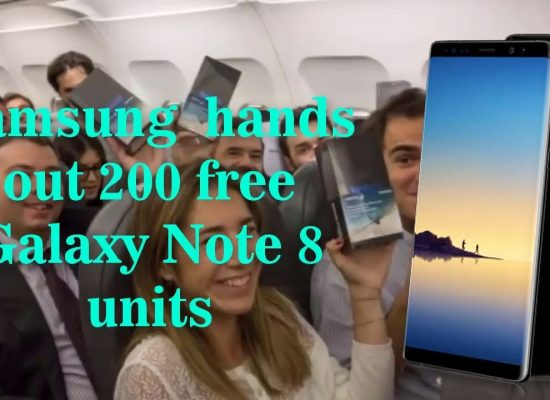 Samsung Spain hands out free Galaxy Note 8 on a domestic flight