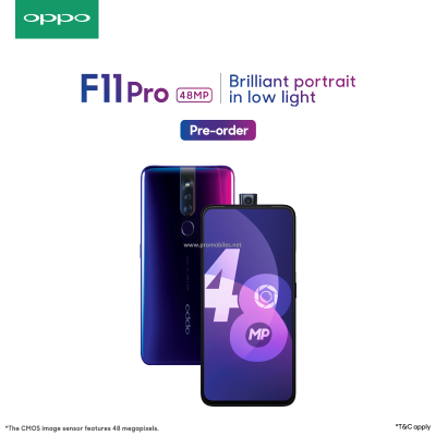 The All-new Oppo F11 pro, with 48 MP camera