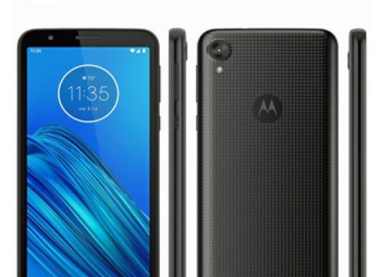 Motorola Moto E6 In Black Textured Back