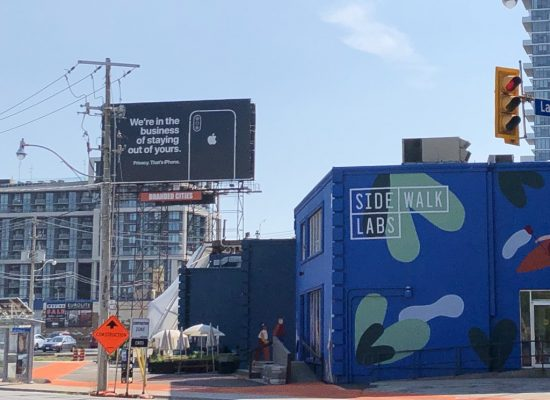 Apple Criticized Google Via billboard on the side walk