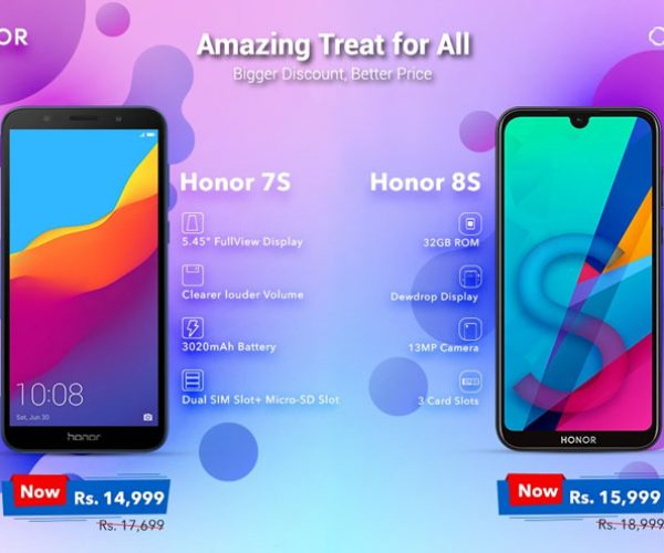 Buy Honor 8s and 7s & get 3k discount
