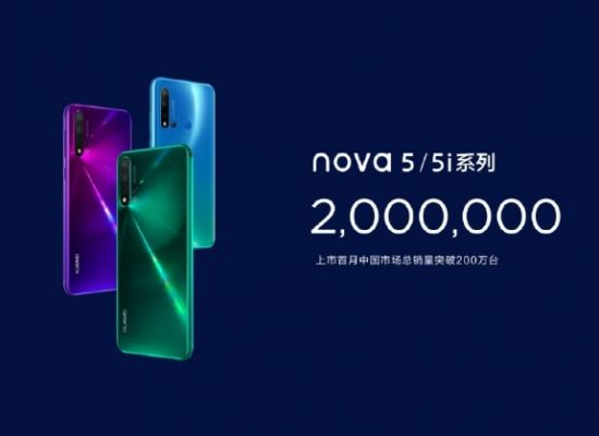 Huawei sold 2 Million Nova 5 in a month