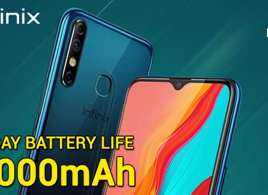 Infinix Hot 8 powerful 5000mAh Battery