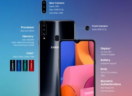 Samsung Galaxy A20s announced.
