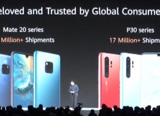 Mate 20 & Huawei P30 has shipped 33 million devices