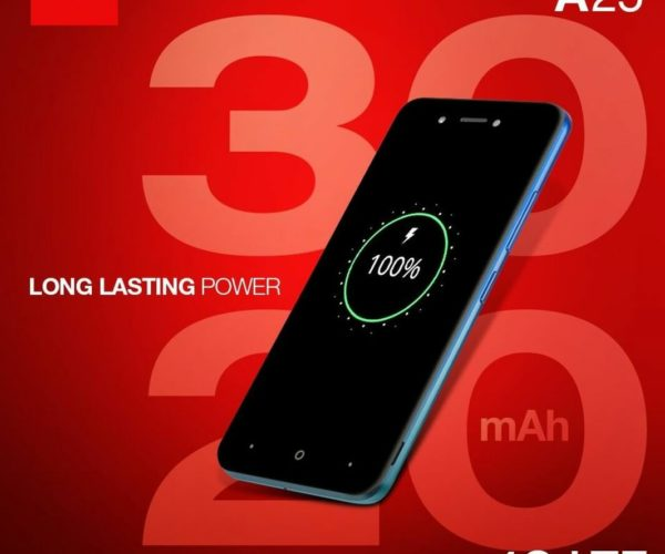 Itel A25 – Long lasting power