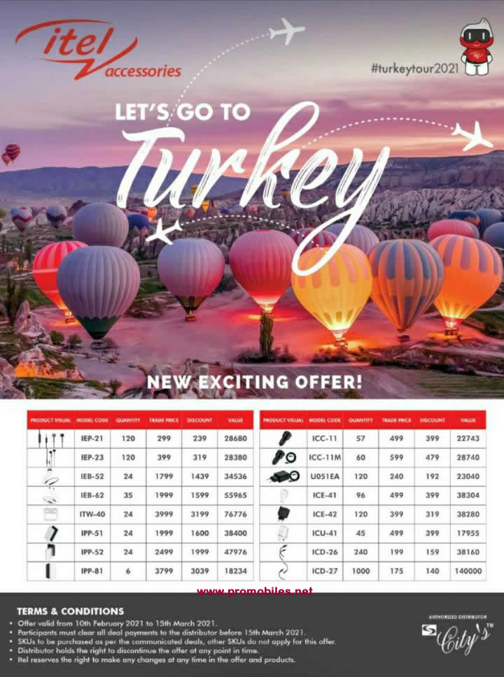 Itel offers new exciting offer -Lets go to Turkey