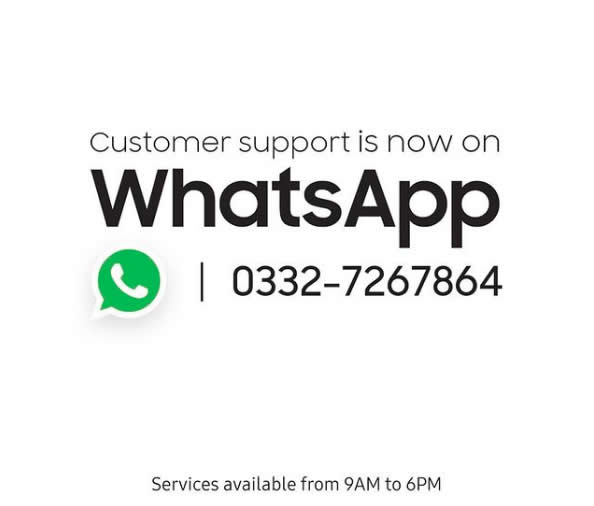 Samsung contact support is now available on WhatsApp